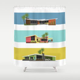 Mid Century Modern Houses 2 Shower Curtain