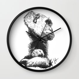 Megan and Mbani gorilla Wall Clock