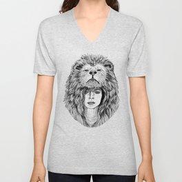 Lion Lady Unisex V-Neck