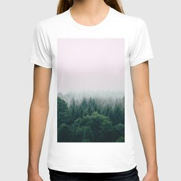 Pink foggy forest T-shirt