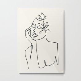 Abstract Minimal Woman I Metal Print