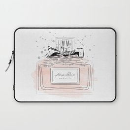 Perfume bottle with bow Laptop Sleeve