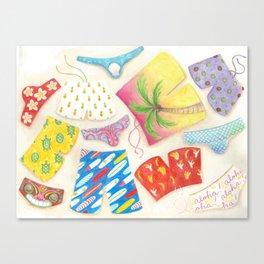 Spicy Swim Wear Canvas Print