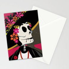 Dia de los Muertos Woman Stationery Cards