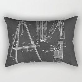 Artist Easel Patent Print 1935  Rectangular Pillow