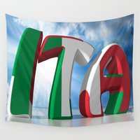 italy Wall Tapestries featuring ITA - Italy by Carlo Toffolo