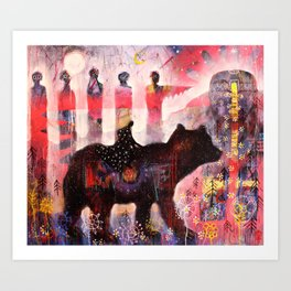 Following The Signs Art Print
