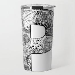 Cutout Letter P Travel Mug