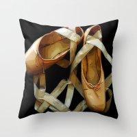 ballet Throw Pillows featuring Ballet by Müge Başak