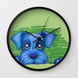 Blue Schnauzer Wall Clock