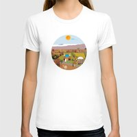 arab T-shirts featuring Peaceful Arab village In the desert by Design4u Studio