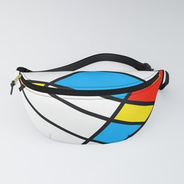 Related Colored Lines Fanny Pack