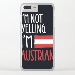 I'm Austrian Clear iPhone Case