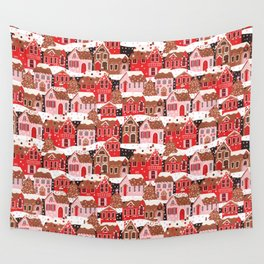 Gingerbread Village Wall Tapestry