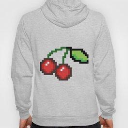 Pixel art cherries Hoody