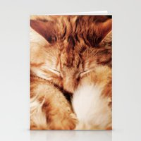 garfield Stationery Cards featuring Garfield Sleeps by Rachel's Pet Portraits