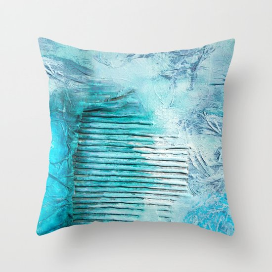 ABSTRACT AQUA COLOURS Throw Pillow