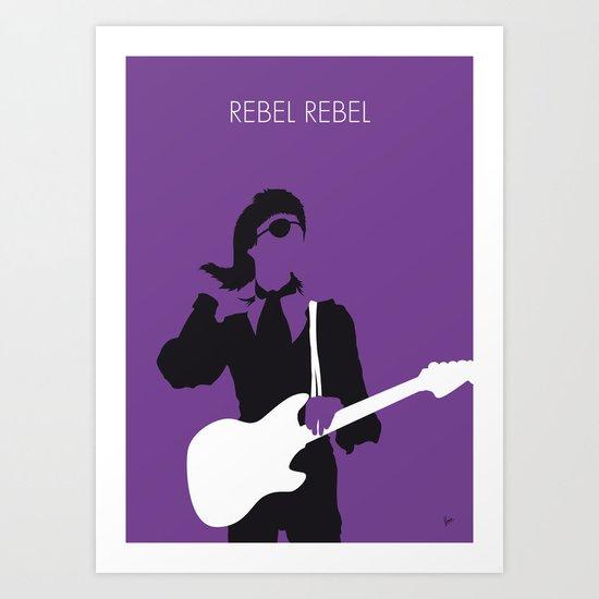 No031 MY BOWIE Minimal Music poster Art Print