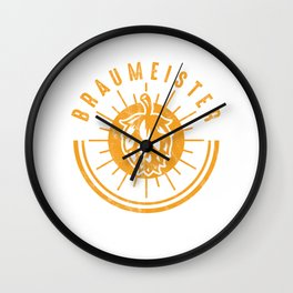 Brewery Brewing Ciders Fermentation Gift Brew Master Beer Brewer Wall Clock