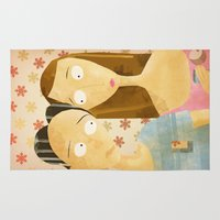 lovers Area & Throw Rugs featuring Lovers by gazonula