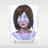 the legend of korra Shower Curtains featuring Korra  by JemyArt
