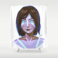 korra Shower Curtains featuring Korra  by JemyArt