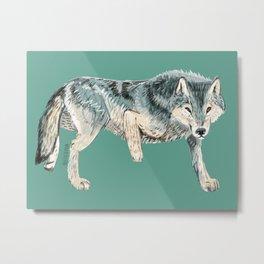 Totem Polar wolf Metal Print