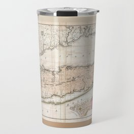 1842 Map of Long Island Travel Mug