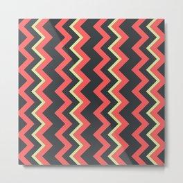 001 Abstract pattern orange greeen and dark grey Metal Print