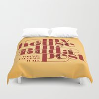budapest Duvet Covers featuring Budapest by Lowso