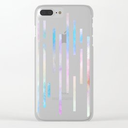 Minimalist Lines - Pastel Clear iPhone Case