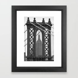Empire State Building Photography Black & White Empire State Building Contest finalist Framed Art Print