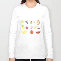 fruits Long Sleeve T-shirts featuring fruits by Ewa Pacia