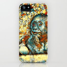 AnimalArt_Gorilla_20180202_by_JAMColorsSpecial iPhone Case