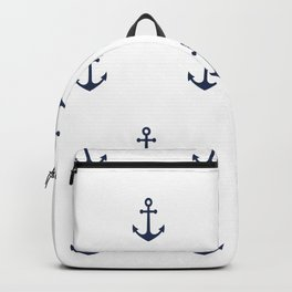 Anchor Pattern Backpack