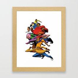 Fat Albert and the gang Framed Art Print