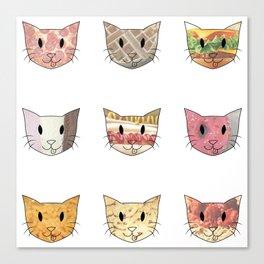 Food & Cats Canvas Print