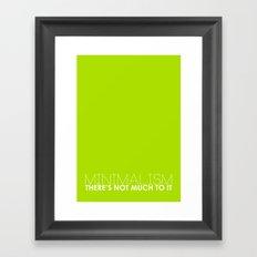 Minimalism. Framed Art Print