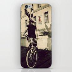 Bunny on Bicycle iPhone & iPod Skin