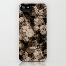 Brown hexagons. iPhone Case