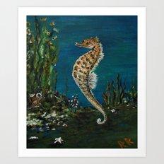The Spectacular Seahorse Art Print