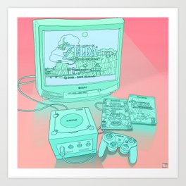 Gamecube Art Print