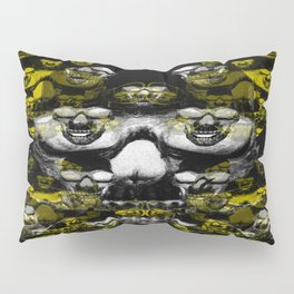 Gold and silver skulls Pillow Sham