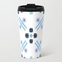 Vintage Flowers Blue Travel Mug