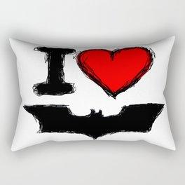 The Knight is Darkest... Rectangular Pillow