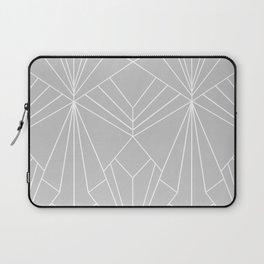 Art Deco on Grey - Large Scale Laptop Sleeve