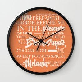 THE WORD ON MELANIN-ORAN Wall Clock