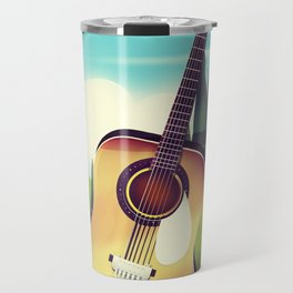 Take it Easy guitar poster. Travel Mug