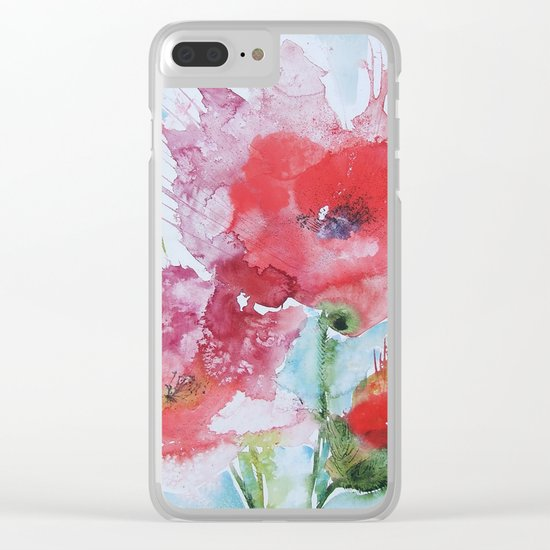 Poppies 04 Clear iPhone Case