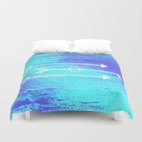 arrows Duvet Covers featuring Arrows by HollyJonesEcu